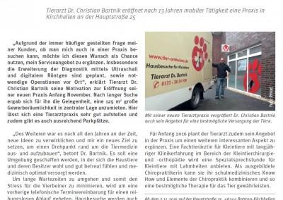 2015 - Neue Tierarztpraxis in Kirchhellen